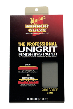 Mirror Glaze® The Professional Unigrit® Finishing Paper