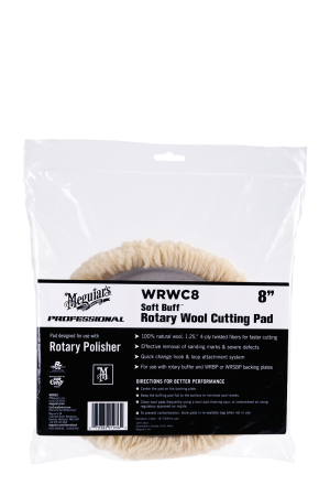 "Soft Buff™ Rotary Wool Cutting Pad 8"" (203mm)"